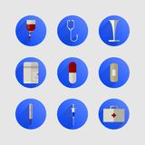 Ikonen für Medizin Stockfotografie