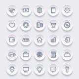 Ikonen für Netz, 25 lineare Piktogramme eingestellt Lizenzfreie Stockfotos