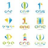 Ikonen für Nr. 1 Lizenzfreie Stockbilder