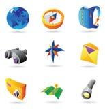 Ikonen für Reise Stockbilder