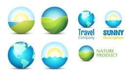 Ikonen für Reise-Website Lizenzfreie Stockfotografie
