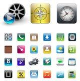 Ikonen für smartphone stock abbildung