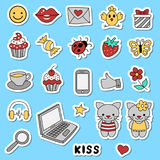 Ikonen für soziale Netzwerke Lizenzfreie Stockbilder