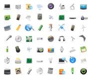 Ikonen für Technologie lizenzfreie abbildung