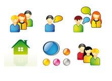 Ikonen für Web Lizenzfreies Stockbild