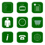 Ikonen für Web site und Internet vektor abbildung