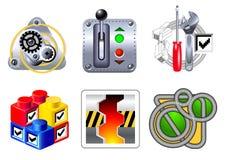 Ikonen für Web und Anwendungen Lizenzfreie Stockbilder