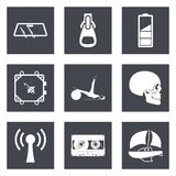 Ikonen für Webdesign und bewegliche Anwendungen stellten 3 ein Lizenzfreies Stockbild