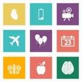 Ikonen für Webdesign und bewegliche Anwendungen stellten 2 ein Lizenzfreie Stockfotografie
