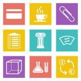 Ikonen für Webdesign und bewegliche Anwendungen stellten 6 ein Stockfotos