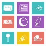 Ikonen für Webdesign und bewegliche Anwendungen stellten 8 ein Lizenzfreie Stockbilder