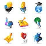 Ikonen für Wissenschaft und Ausbildung Stockbilder