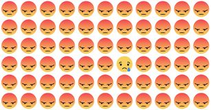 Ikonen Facebooks Emoji Vektorsocial media-Hintergrund Auch im corel abgehobenen Betrag stock abbildung