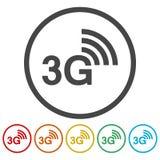 Ikonen 3G eingestellt stock abbildung