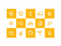 Ikonen-Gelb stockfotos