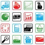 Ikonen-gesetzte Finanzierung Stockfoto