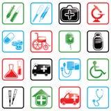 Ikonen-gesetzte Medizin Stockbild