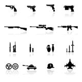 Ikonen-gesetzte Waffen Stockbild