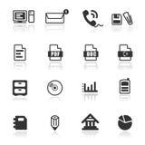 Ikonen-gesetztes Büro/Web Stockbilder