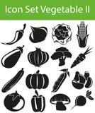 Ikonen-gesetztes Gemüse II vektor abbildung