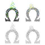 Ikonen-griechisches Zeichen-Omega-Set Stockfotos