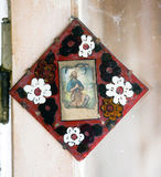 Ikonen im alten Tempel Stockfotos