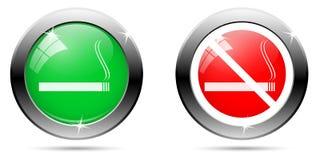 Satz rauchende Knöpfe Stockfotos