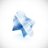 IKONEN-Logoschablone der blauen Topasscherbe Kristall Stockbilder