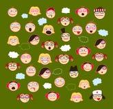 Ikonen-Reihen-Gesicht Lizenzfreie Stockfotografie
