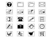 Ikonen-Set Lizenzfreie Stockbilder