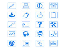 Ikonen-Set Stockbild