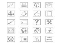 Ikonen-Set Stockbilder