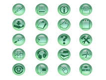 Ikonen-Set Lizenzfreies Stockfoto