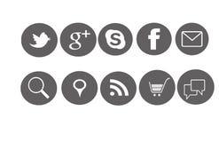 Ikonen-soziales Lizenzfreie Stockfotografie
