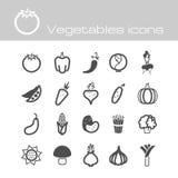Ikonen stellten Gemüse ein Stockfotos