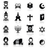 Ikonen stellten Religionen ein Stockfotografie