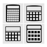 Ikonen Taschenrechner, Vektorillustration Lizenzfreies Stockbild