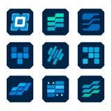 Ikonen-Technologie-Industriedesign Lizenzfreies Stockfoto