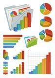 Ikonen und Diagramm-Elemente Stockbild