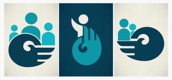 Ikonen und Symbolsammlung Stockbilder