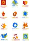 Ikonen und Zeichen der Blumen Lizenzfreie Stockfotografie