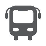 Ikonen-Vektorillustration des Busses flache Stockfotografie