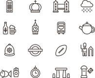 Ikonen Vereinigten Königreichs und Londons Lizenzfreies Stockbild