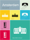 Ikonen von Amsterdam Stockfoto