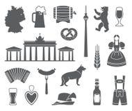 Ikonen von Deutschland Auch im corel abgehobenen Betrag stock abbildung
