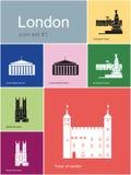 Ikonen von London Lizenzfreie Stockfotografie