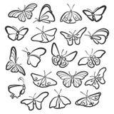 Ikonen von Schmetterlingen lizenzfreie abbildung