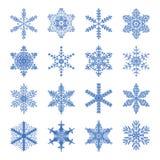 Ikonen von Schneeflocken lizenzfreie abbildung