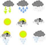 Ikonen-Wetter Stockfotos