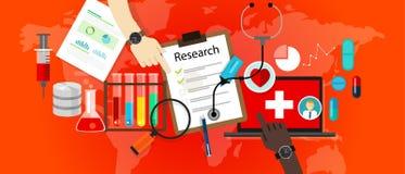Ikonen-Wissenschaftslaborvektor der medizinischen Forschung Stockfotos